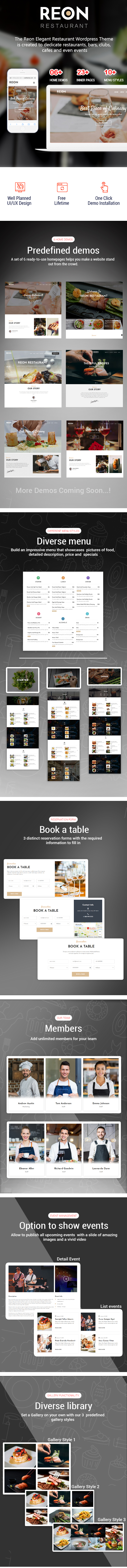 Reon - Restaurant WordPress Theme