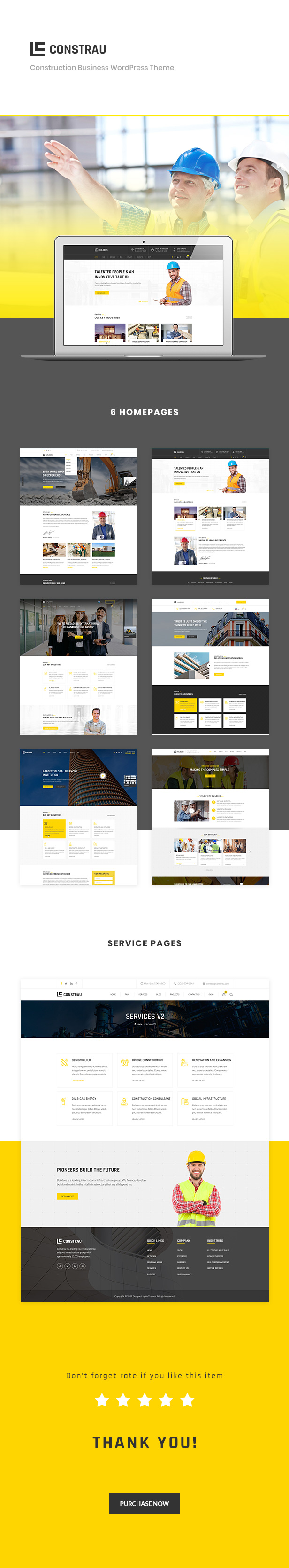 Constrau - Construction Business WordPress Theme