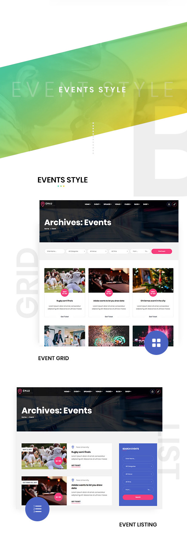 em4u event management multipurpose wordpress theme