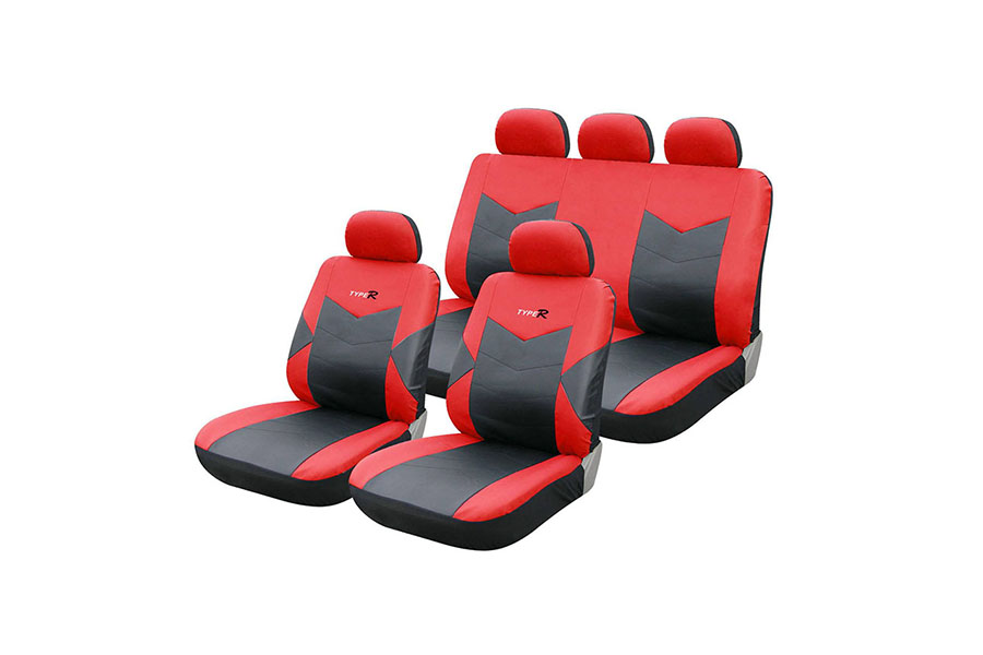 Seat Cover Red Black