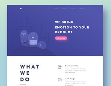 Mojoko Design Web Portfolio PSD